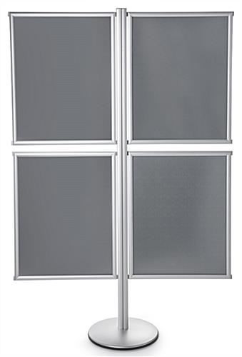 4-Frame Floor Poster Display Stand with Single-Sided Holders