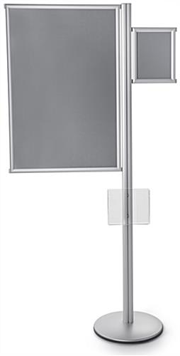 6' Tall Multi Literature Poster Sign Display Post