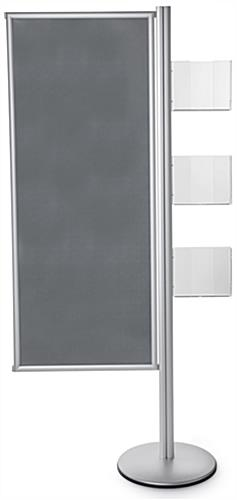 Silver Snap Frame Dual Offset Skyscraper Display Stand
