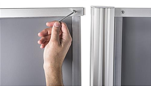 Aluminum Snap Frame Dual Offset Skyscraper Display Stand