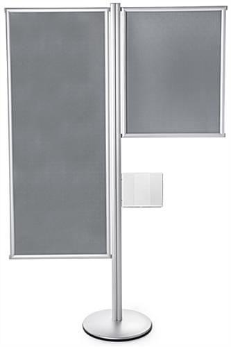 Silver Snap Frame Dual Offset Sign Display Stand