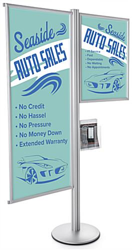 22 x 56 & 22 x28 Snap Frame Dual Offset Sign Display Stand