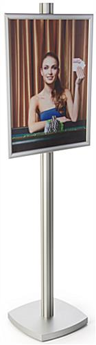 Silver 22x28 Snap Frame Display Stand