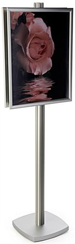 Silver 22x28 Sign Display Floor Stand
