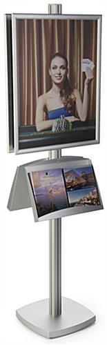 Silver 22x28 Metal Poster Literature Stand