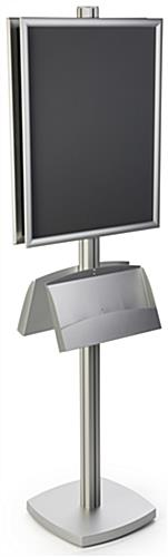 Aluminum 22x28 Dual Frame Stand with Literature Pocket