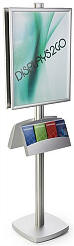 22x28 Dual Frame Stand with Literature Pocket for Pamphlets