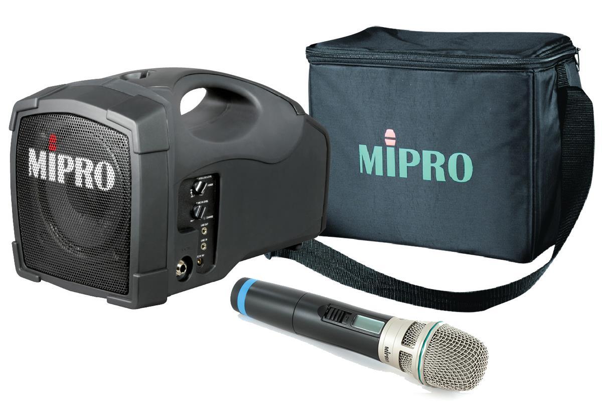 compact pa system 5 full range speaker wireless microphone. Black Bedroom Furniture Sets. Home Design Ideas