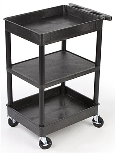 black commercial cart