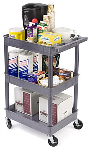 service carts with three shelves