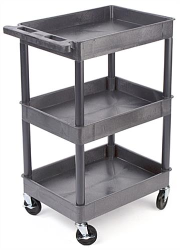 service carts with 3 shelves