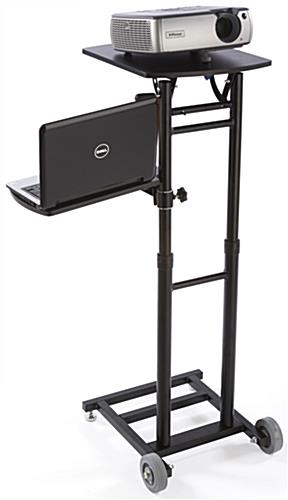 Adjustable Projector Stand has Black Steel Powder Coated Base
