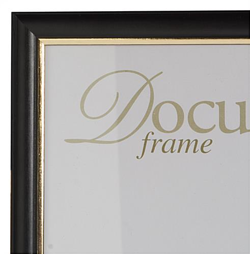black document frames