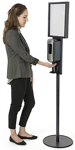 Black Hand Sanitizer Stand With 11 X 14 Sign Holder