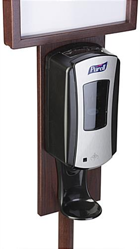 Mahogany Hand Sanitizer Stand with Purell Dispenser