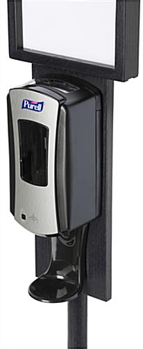 Black Floor Standing Purell Dispenser with Touch-Free Design