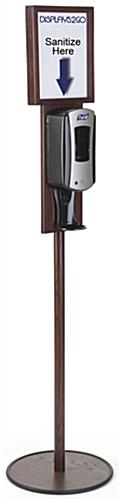 Mahogany Floor Standing Purell Dispenser is Refillable