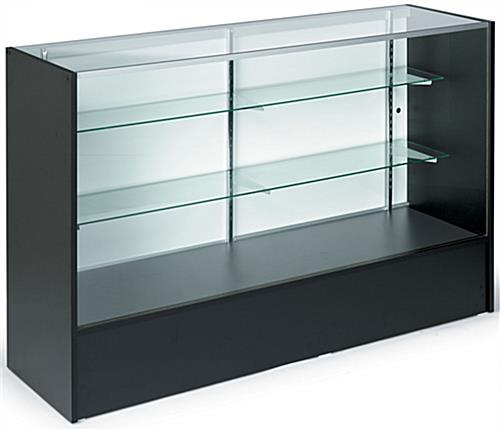 Showcase: 5' Long Black Melamine Full-Vision Counter