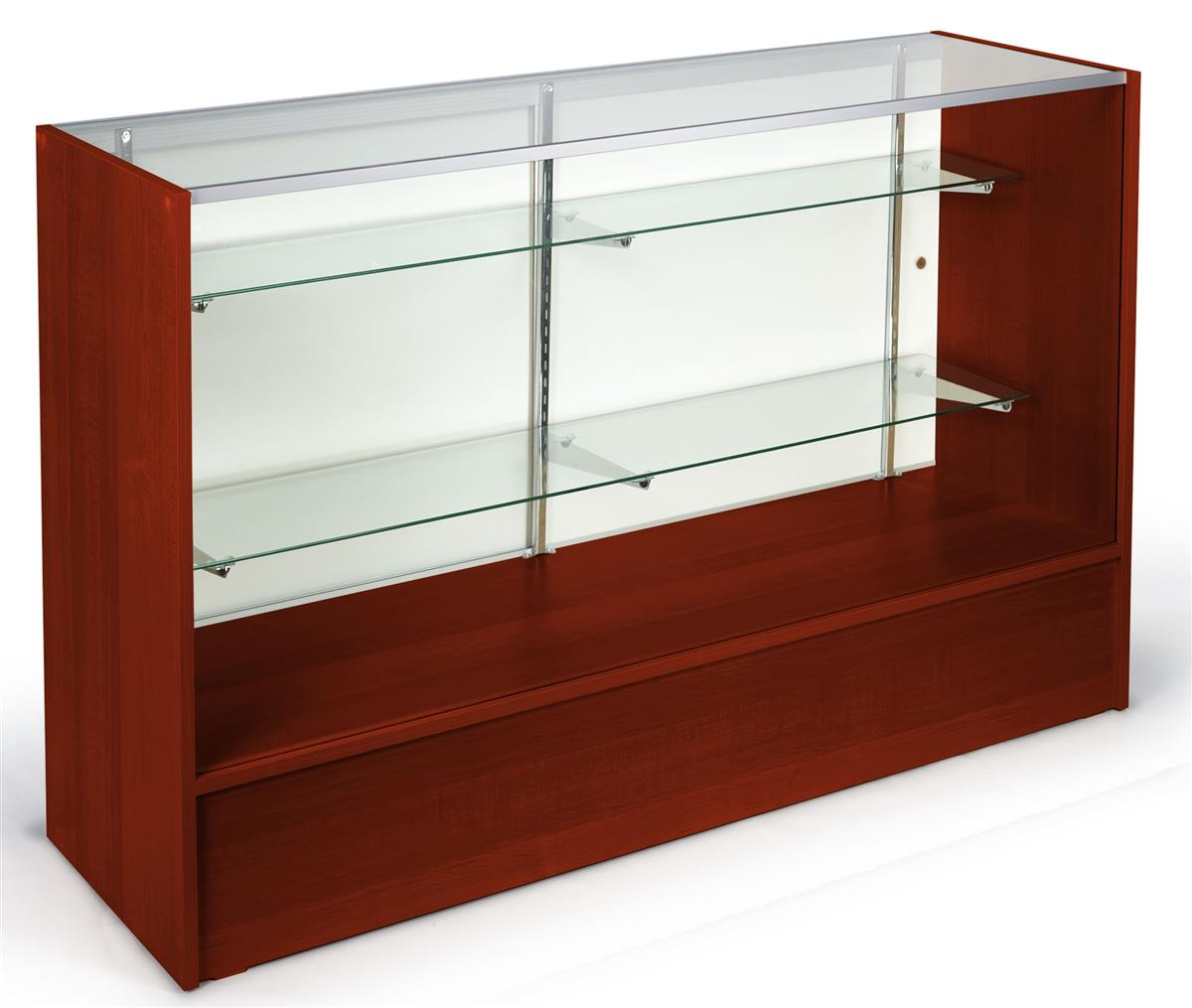 Display Cases Retail Displays With Cherry Finish