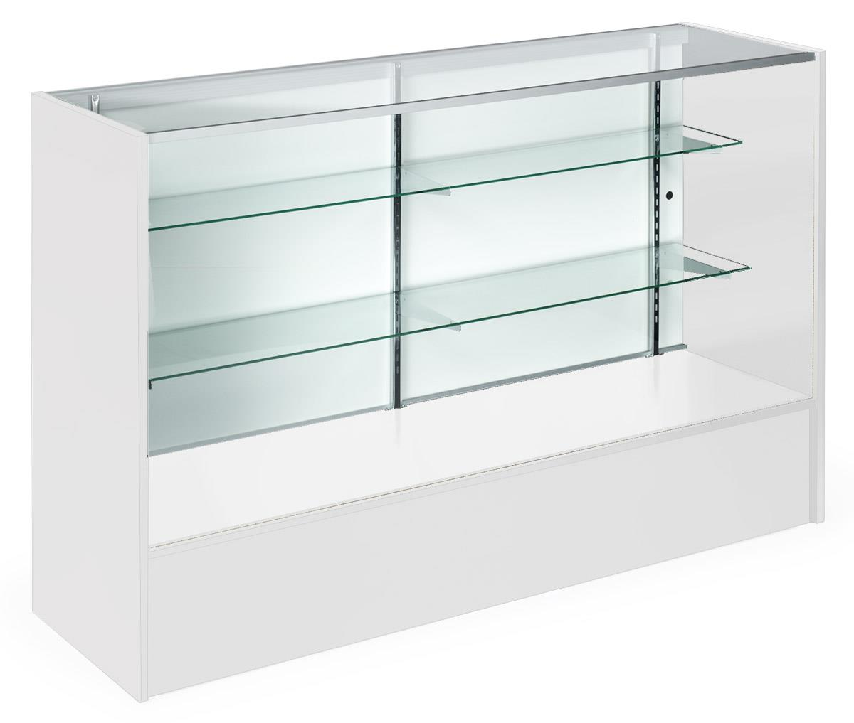 5 White Display Case Glass Open Front Amp 2 Adjustable