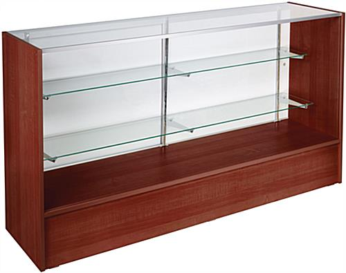 Showcases: Are 6' Long Cherry Melamine Display Counters