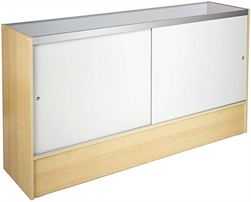 Glass Display Case With Maple Melamine Finish