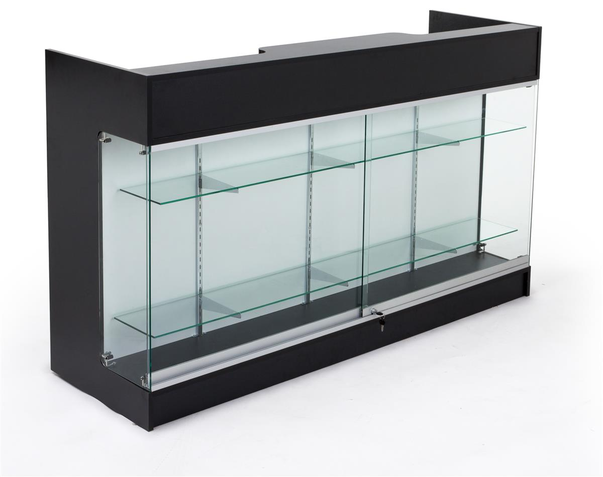 Retail Store Counters Front Glass Cabinet For Storage