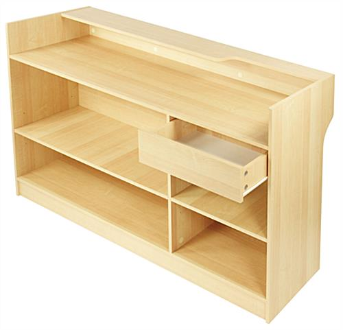 Retail Sales Counter Maple Checkout Stand