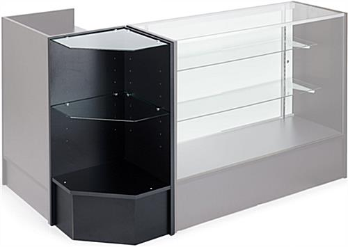 Corner Display Unit: Black Melamine
