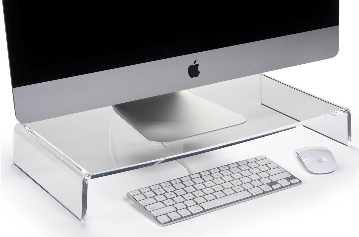 Acrylic Monitor Stand Clear Polished Design