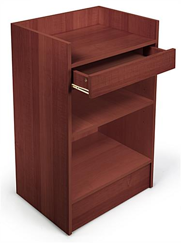 open drawer cherry cash register stand