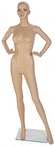 Full Size Female Mannequin with Painted Facial Features