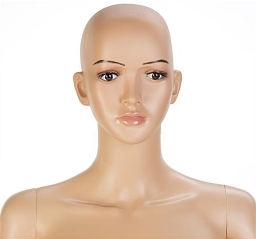 Full Body Female Mannequin with Eyelashes