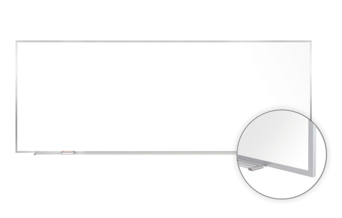120 X 48 Dry Erase Board White Magnetic Surface 1 Marker Eraser Silver