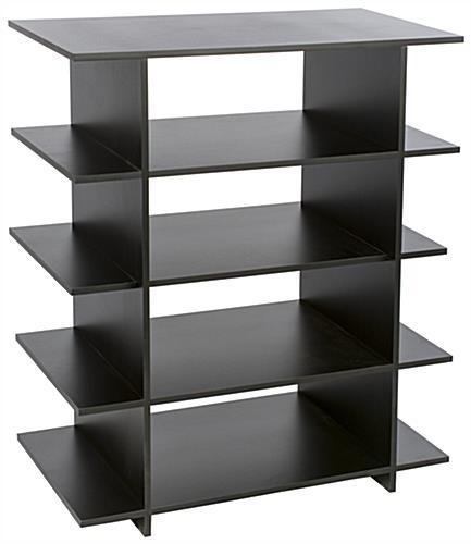 wood retail display with interlocking panels. Black Bedroom Furniture Sets. Home Design Ideas