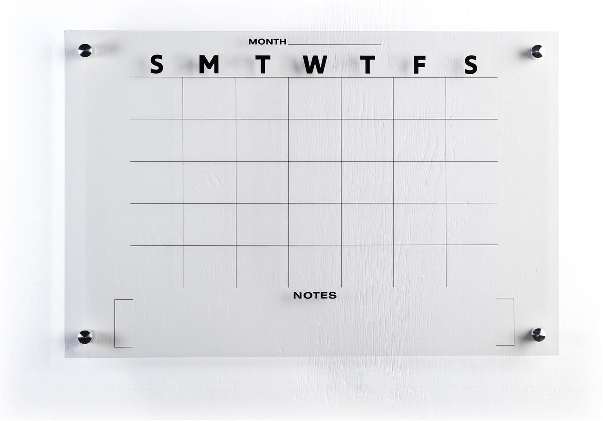 30-Day Calendar Whiteboard