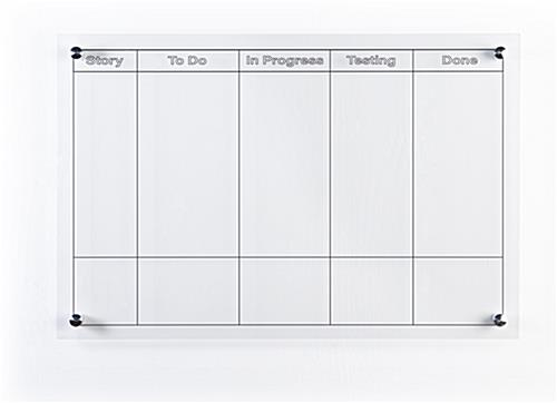 Coated custom printed dry erase board