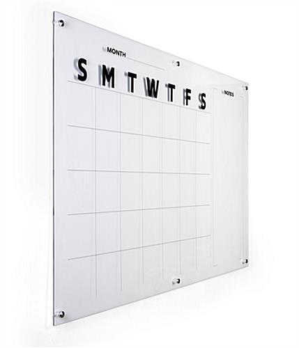 Oversized calendar dry erase board for scheduling
