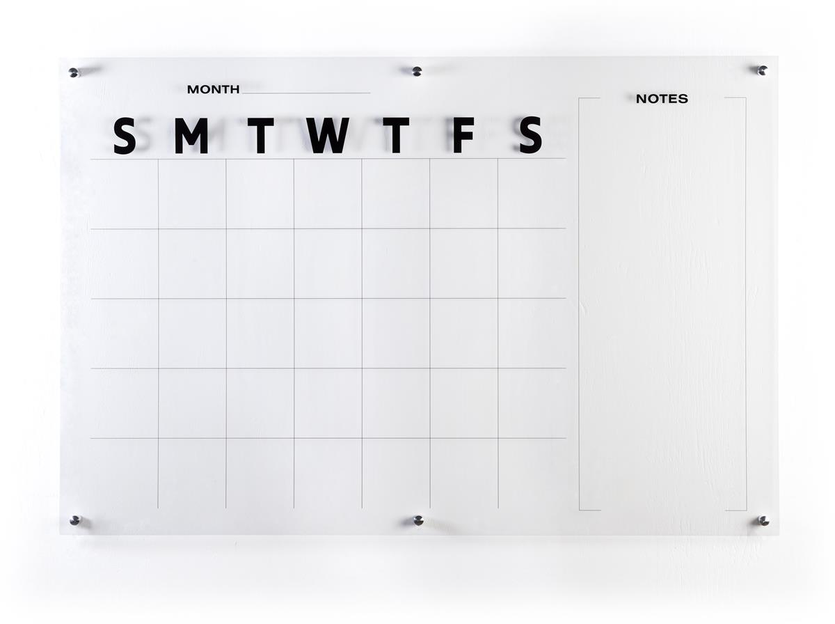 Dry Erase Calendar Canada : Oversized calendar dry erase board clear acrylic
