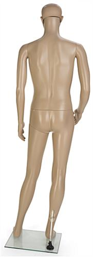 Male Cheap Mannequin with Tempered Glass Base