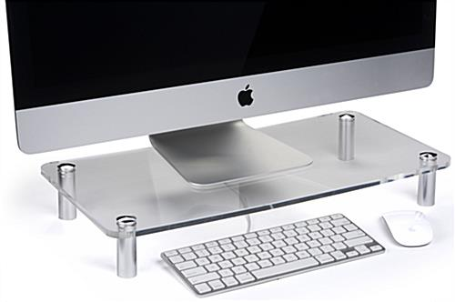 Heavy Gauge Clear Monitor Stand