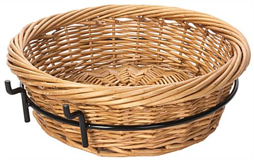 Round Wicker Basket Attachment with Natural Color