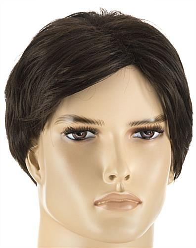 Athletic Male Mannequin with Brown Wig Made of Japanese Kanekalon Fibers