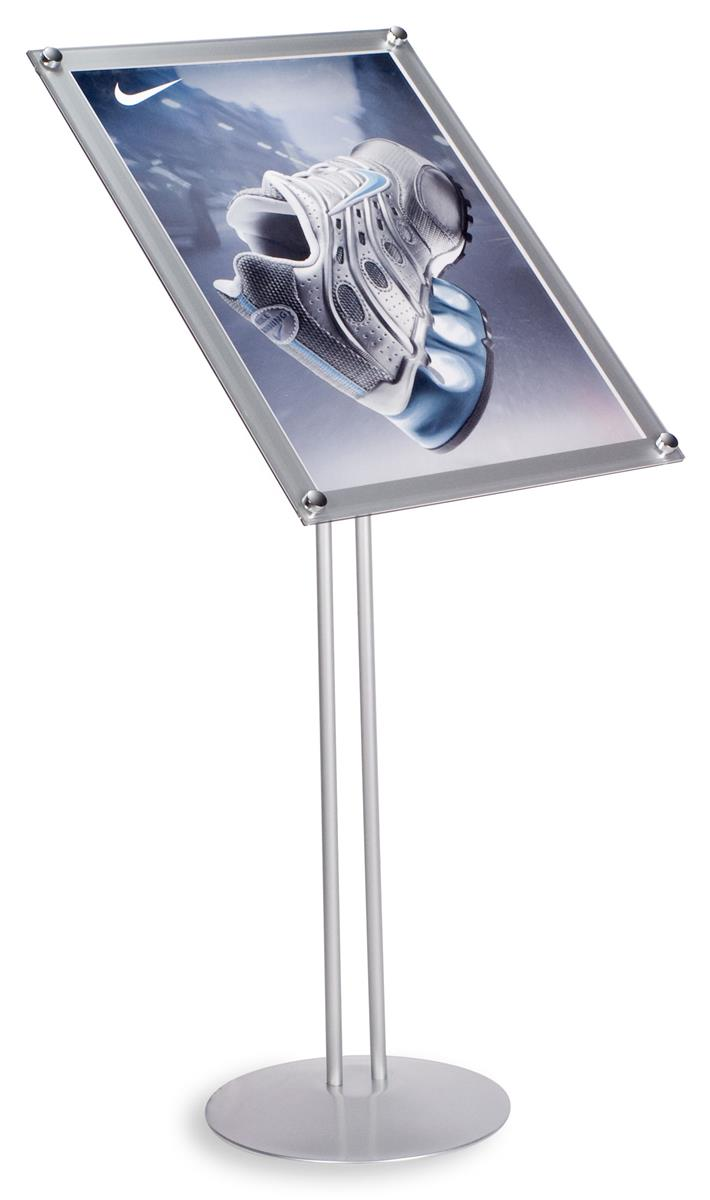 18 X 24 Sign Stands W Silver Height Adjustable Assembly