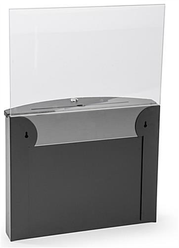 black curved front ballot box