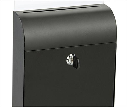 Wall Mount Document Box with Lockable Door