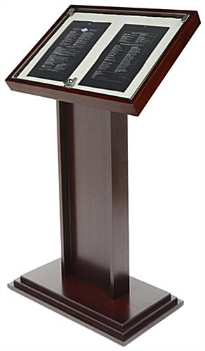 Mahogany Directory Display Stand