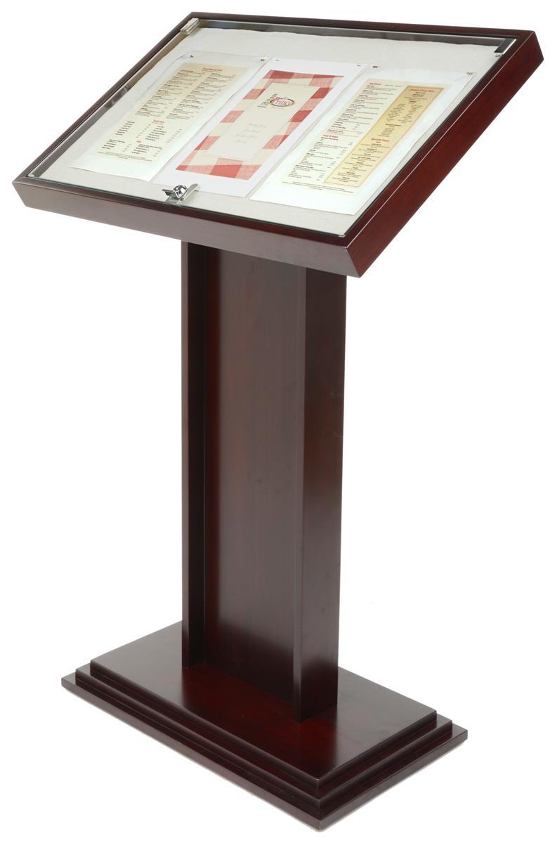 Lockable Menu Stand Floor Standing Notice Board