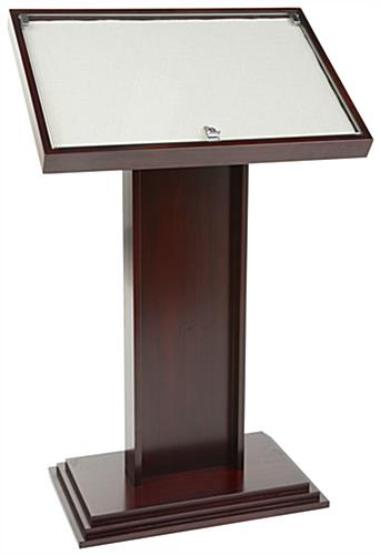 Cherry Directory Display Stand