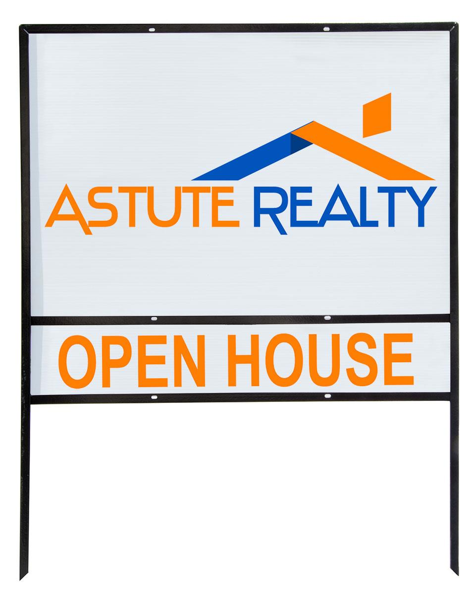 Real Estate Lawn Signs 5 36x24